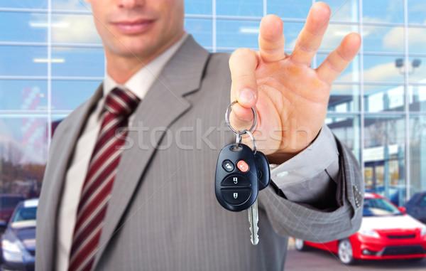 Hand auto veiligheid reizen zwarte Stockfoto © Kurhan