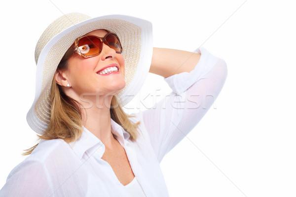 Donna indossare occhiali da sole Hat senior Foto d'archivio © Kurhan