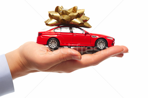 Geschenk auto handel vrouw Stockfoto © Kurhan