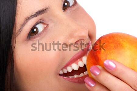 woman with peach Stock photo © Kurhan
