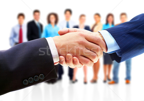 Photo stock: Affaires · handshake · gens · d'affaires · affaires · isolé · blanche