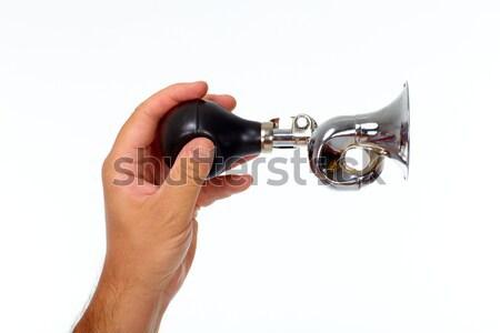 Stock fotó: Akusztikus · duda · kéz · tart · hagyományos · izolált