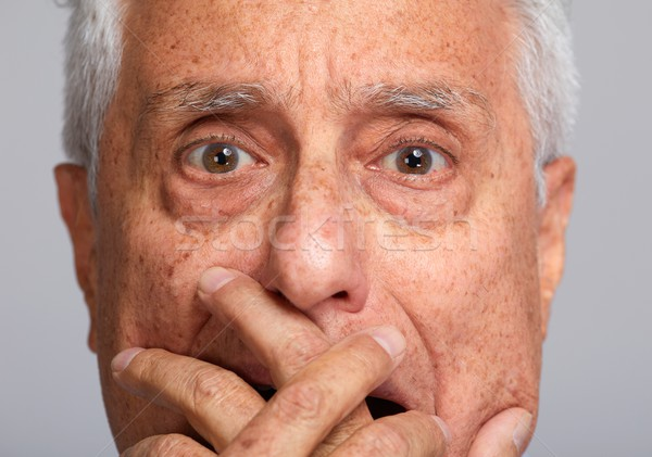 Scared old man Stock photo © Kurhan