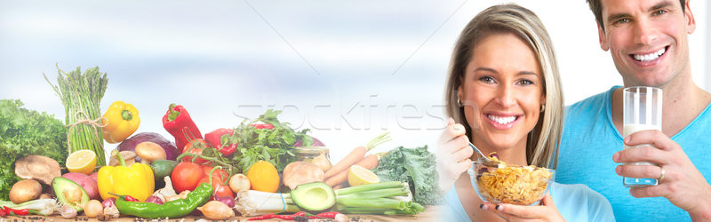 People eating and drinking Stock photo © Kurhan