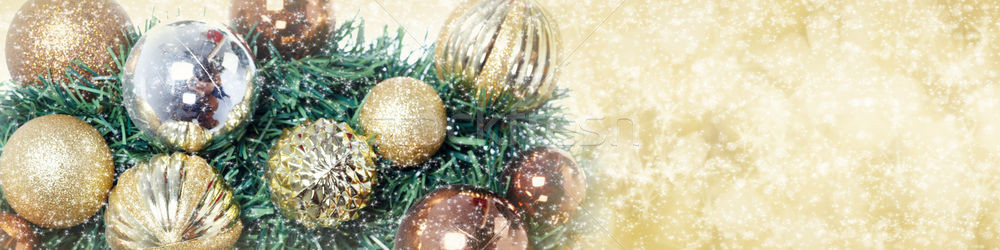 Christmas tree decoration background. Stock photo © Kurhan