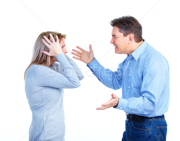 Angry couple. Stock photo © Kurhan