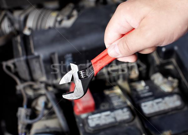 手 メカニック 作業 自動 修復 ストックフォト © Kurhan