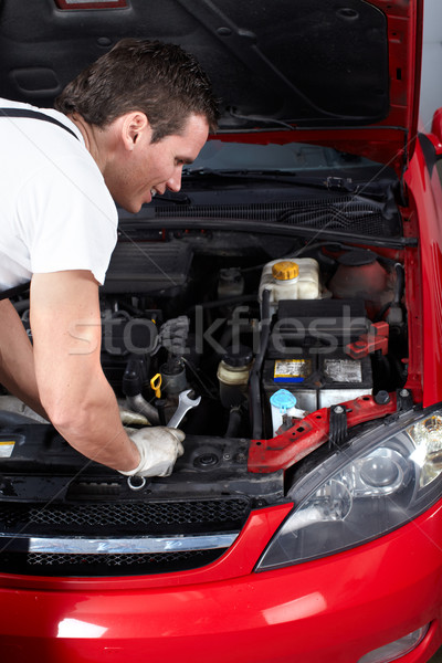 Automechaniker professionelle auto Reparatur Laden Garage Stock foto © Kurhan