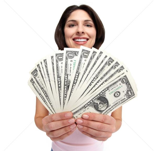 Woman with money. Stock photo © Kurhan
