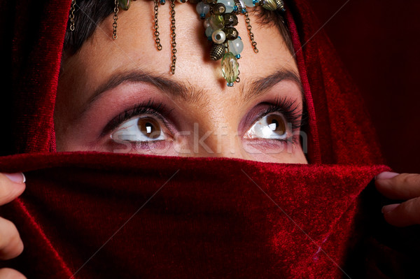 таинственный восточных женщину красивой глазах лице Сток-фото © Kurhan