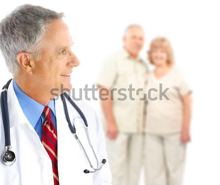 doctor and elderly couple Stock photo © Kurhan