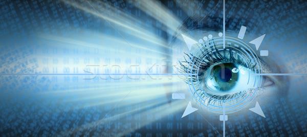 глаза коллаж человека технологий футуристический компьютер Сток-фото © Kurhan