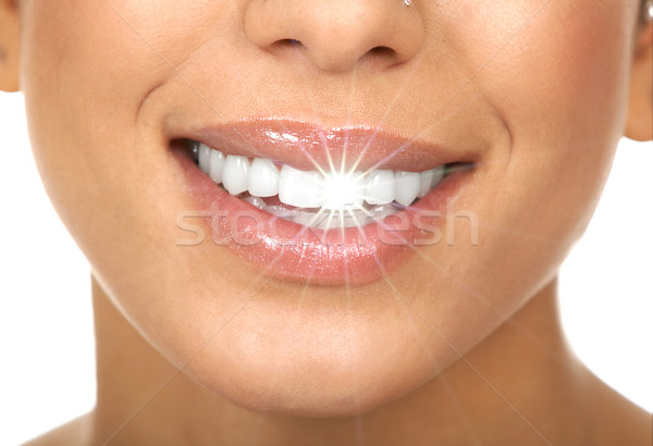 Happy woman smile. Stock photo © Kurhan