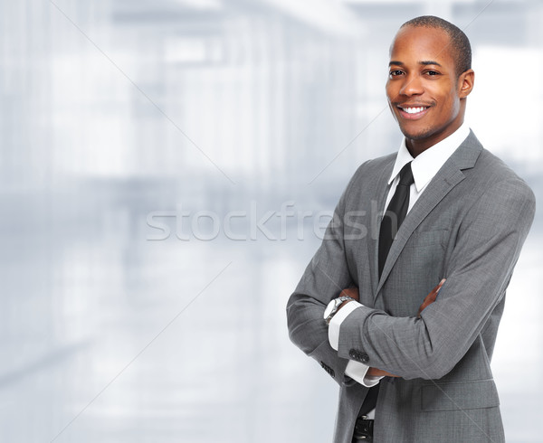 African-American black businessman. Stock photo © Kurhan