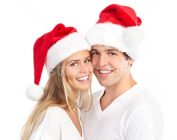 Christmas couple Stock photo © Kurhan