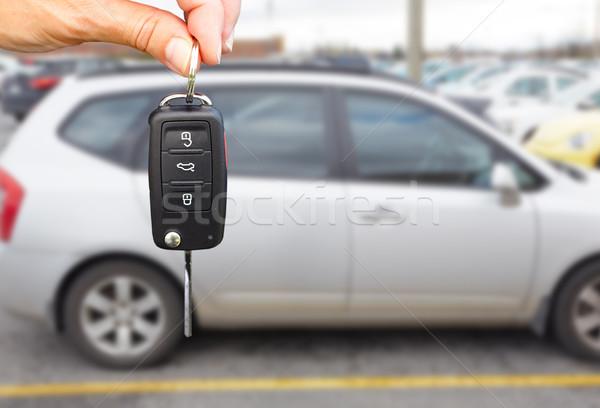 Revendeur main clé Auto Photo stock © Kurhan