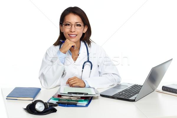Chinese doctor woman. Stock photo © Kurhan