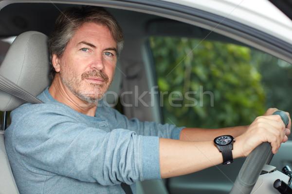 Man driving car Stock photo © Kurhan