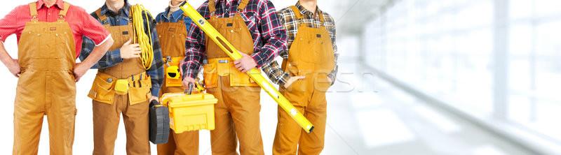 Construction workers team Stock photo © Kurhan