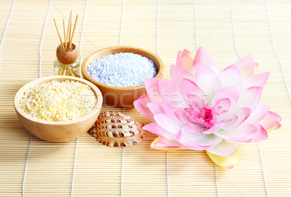 Fürdő aroma terápia természetes test törődés Stock fotó © Kurhan