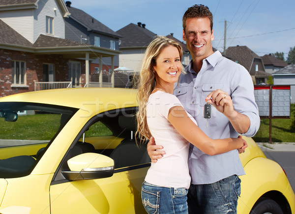 Couple with a car key. Stock photo © Kurhan
