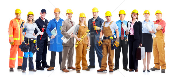Construction workers group. Stock photo © Kurhan