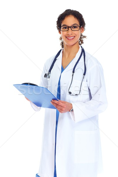 Medical doctor woman writing prescription Stock photo © Kurhan