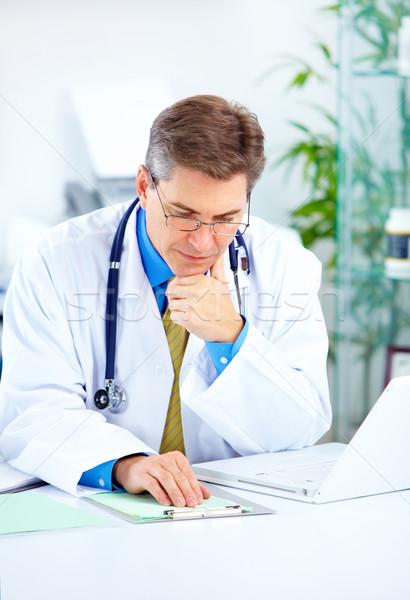 医師 医療 作業 ノートパソコン オフィス ビジネス ストックフォト © Kurhan