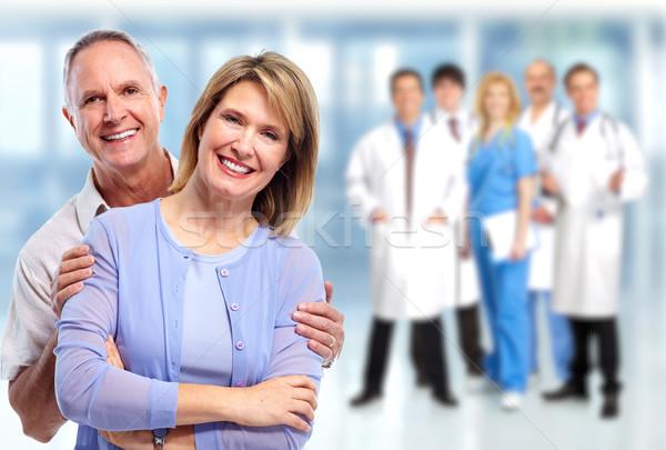 Stockfoto: Gelukkig · ouderen · paar · liefde · medische