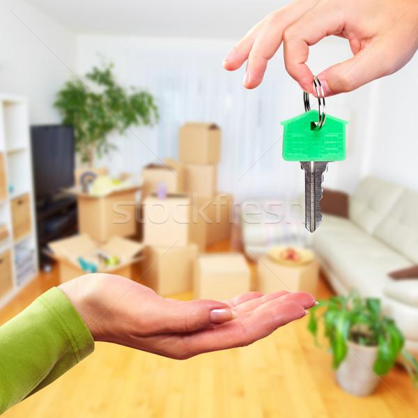 Mano casa clave inmobiliario movimiento negocios Foto stock © Kurhan