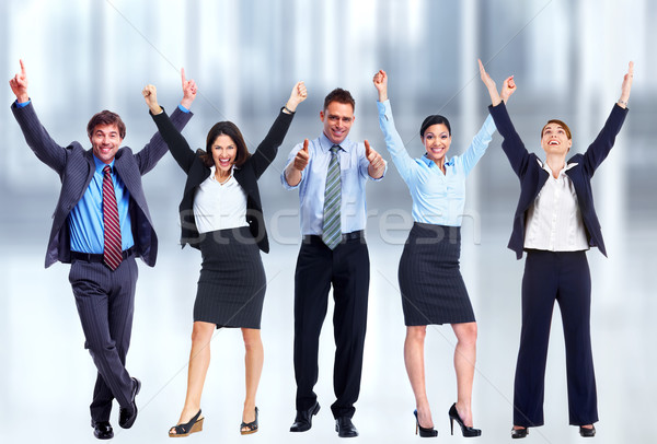 Happy Business team. Stock photo © Kurhan