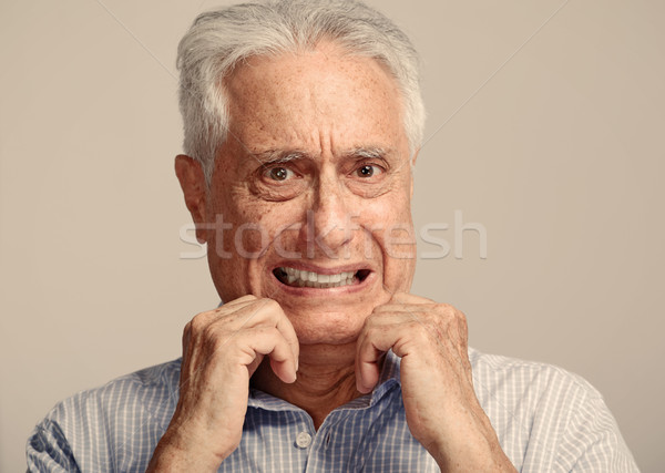 Scared old man. Stock photo © Kurhan