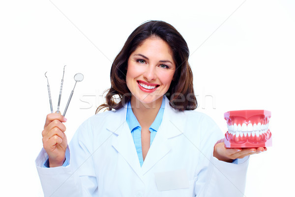 Dentist woman. Stock photo © Kurhan