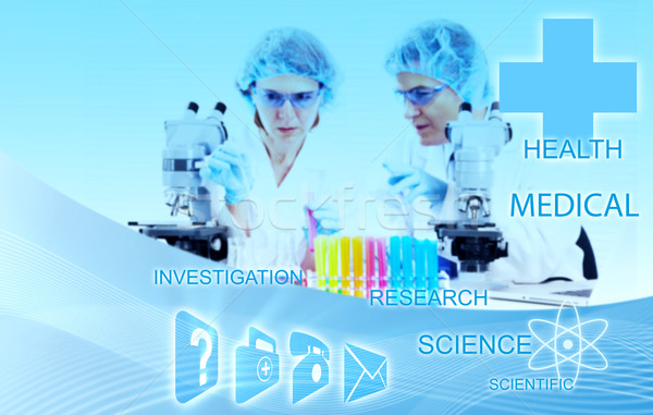 Health care and science background. Stock photo © Kurhan