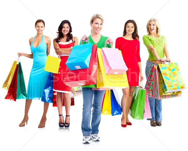 Women with shopping bags. Stock photo © Kurhan