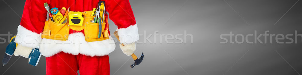 Santa with construction tools Stock photo © Kurhan