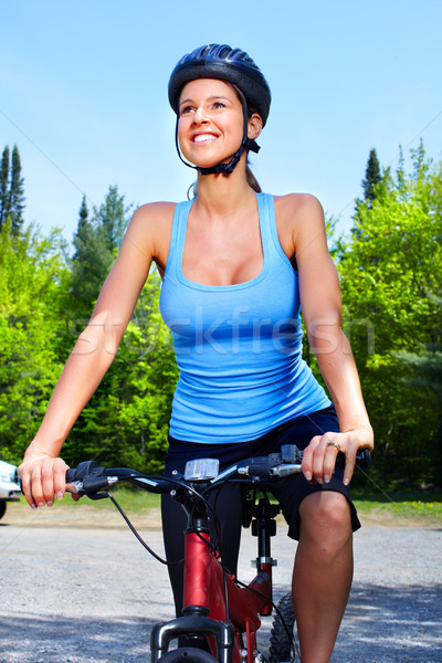 Woman cyclist. Stock photo © Kurhan