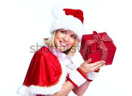 Christmas Santa girl. Stock photo © Kurhan