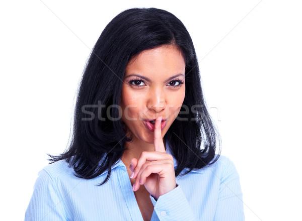 Jóvenes mujer de negocios hispanos aislado blanco mujer Foto stock © Kurhan