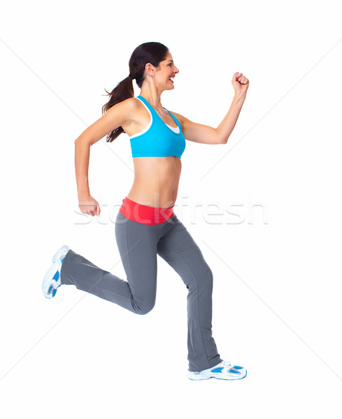 Stock photo: Jogging healthy woman.