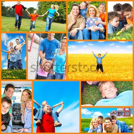 Happy family collage. Stock photo © Kurhan
