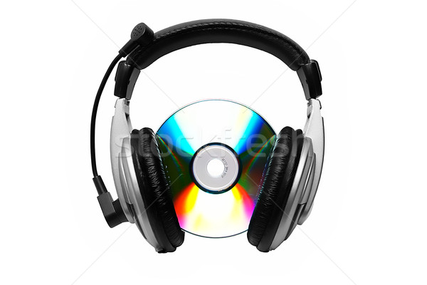 Cd and headphone.  Stock photo © Kurhan