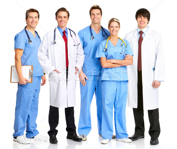 Smiling medical people Stock photo © Kurhan