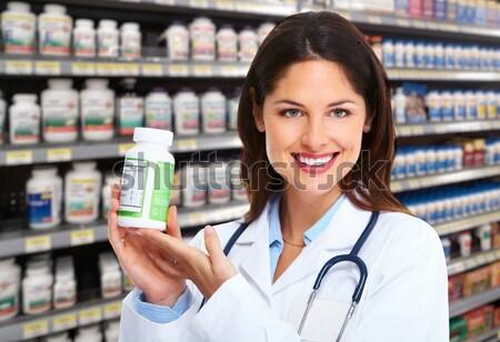 Beautiful doctor woman Stock photo © Kurhan