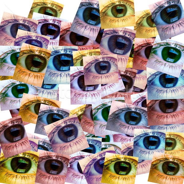 Beautiful woman eye collage. Stock photo © Kurhan