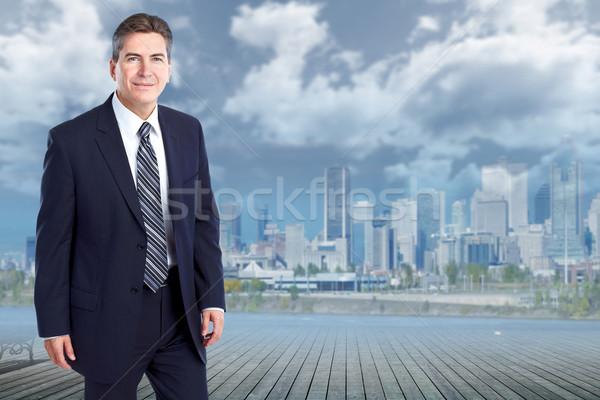 Handsome stylish businessman. Stock photo © Kurhan