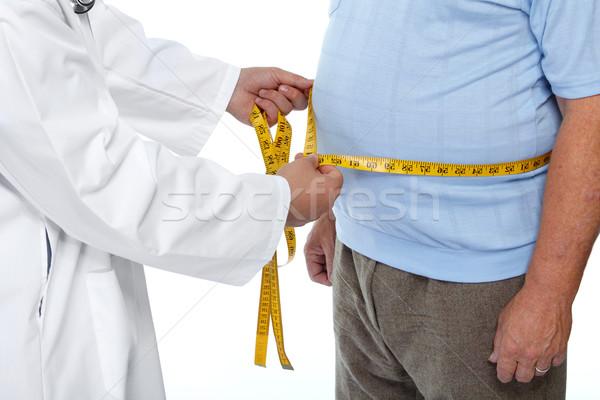 врач тучный человека желудка талия Сток-фото © Kurhan