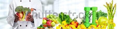 Groenten vruchten dieet sport appel Stockfoto © Kurhan