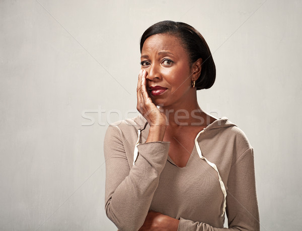 Sad crying black woman Stock photo © Kurhan
