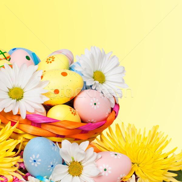 Paaseieren mooie voorjaar Pasen partij ei Stockfoto © Kurhan